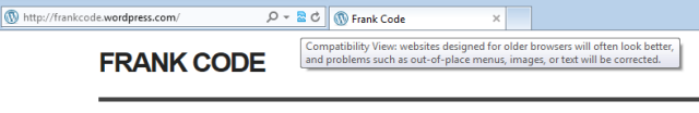 IE 10 Compatibility View